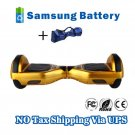 Dual Wheels Smart Self Balancing Electric Scooter Eco-friendly Vehicle Drifting Board - Golden