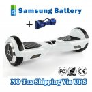 Dual Wheels Smart Self Balancing Electric Scooter Eco-friendly Vehicle Drifting Board - White