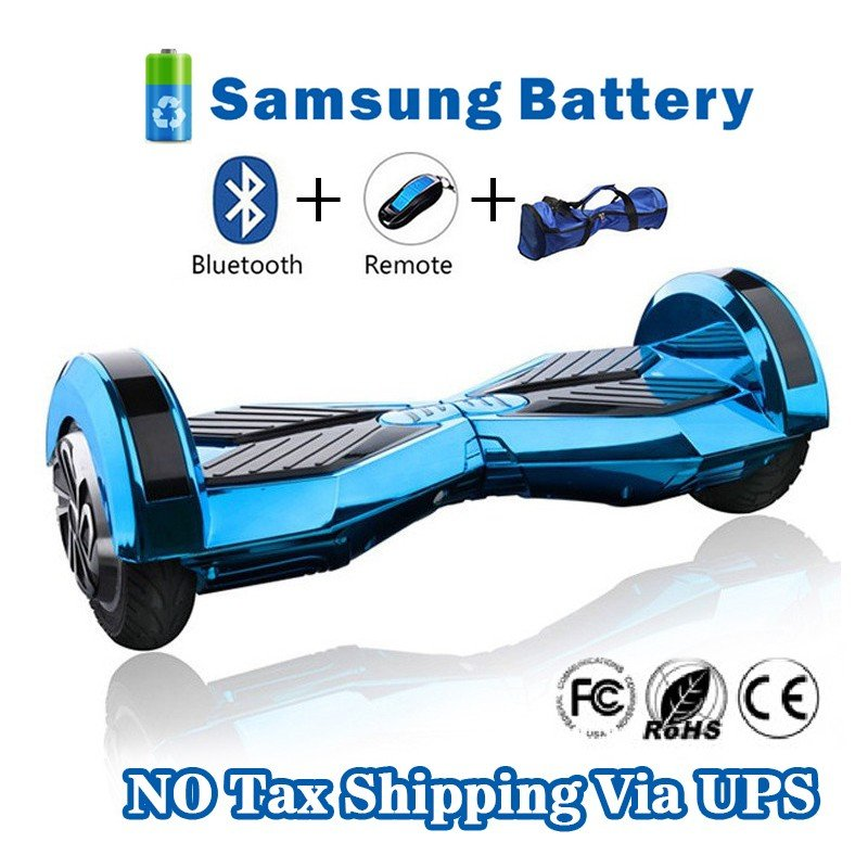 8 inches Bluetooth Hoverboard Self Balancing Scooter with LED Blue