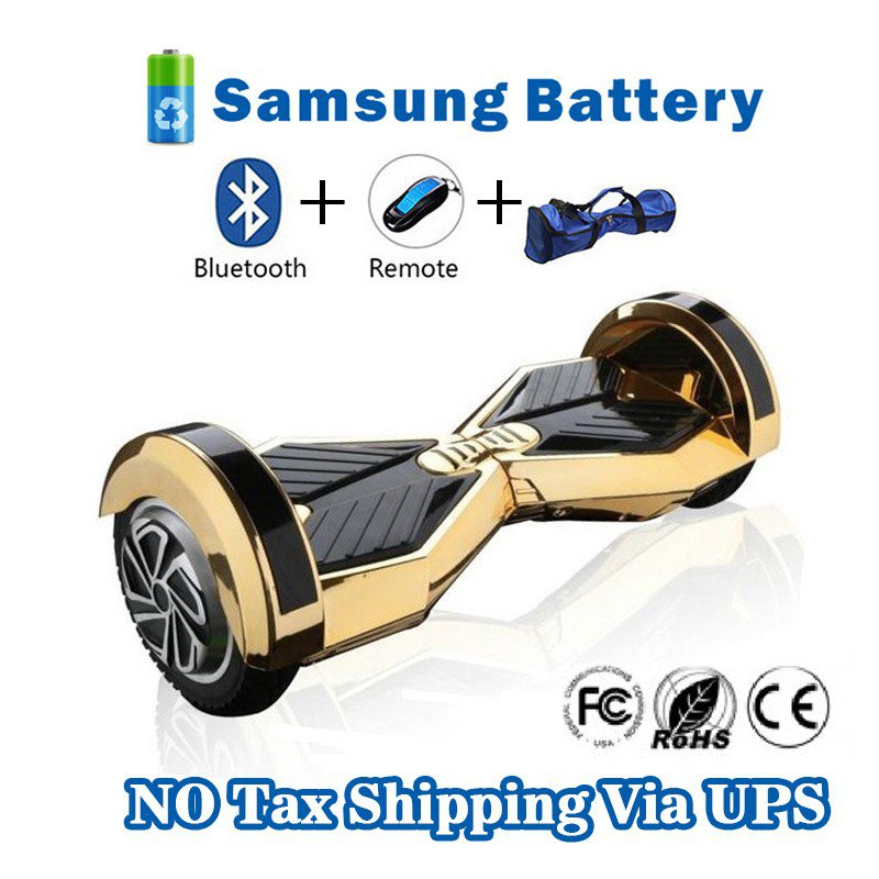 8 inches Bluetooth Hoverboard Self Balancing Scooter with LED Gold