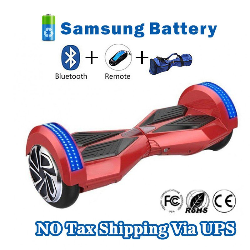 8 inches Bluetooth Hoverboard Self Balancing Scooter with LED Red