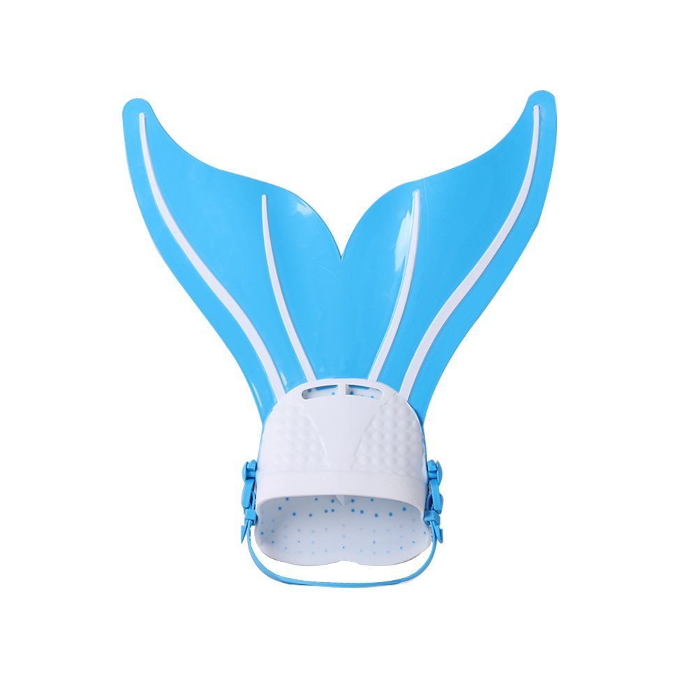 Teen Mermaid Swim Fin Diving Monofin Swimming Flipper Swimmable Tail - Thirsty Blue