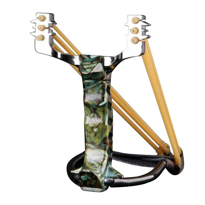 Stainless High Performance Powerful Outdoor Athletics Slingshot High Velocity Hunting Catapult