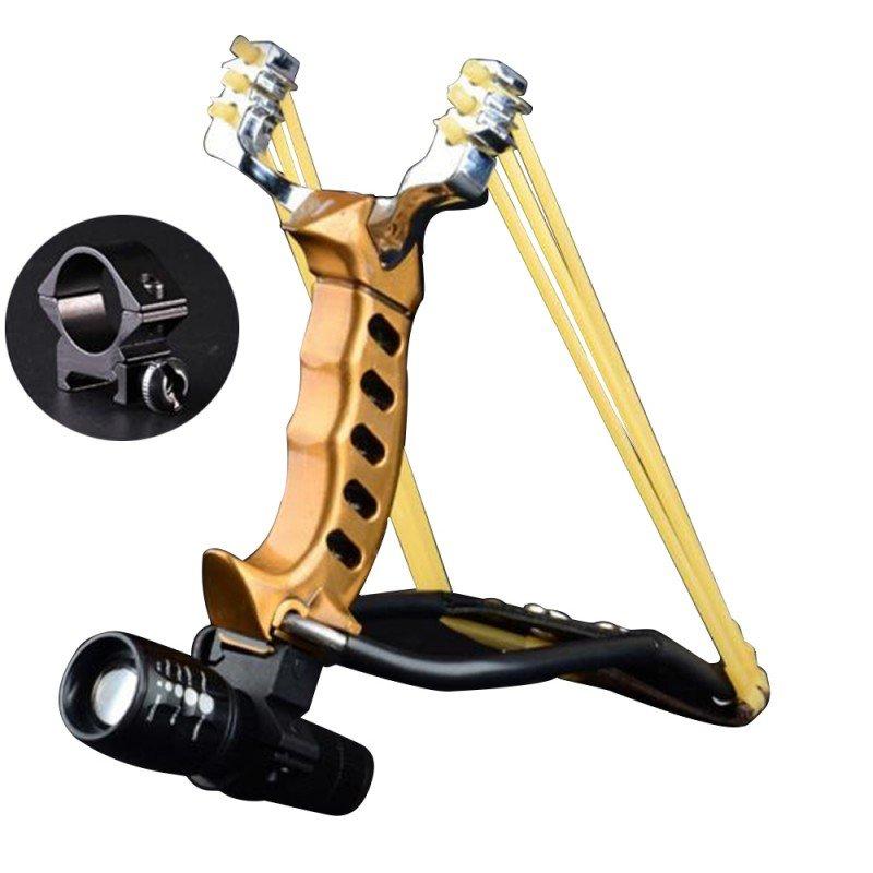 Adjustable Stainless Hunting Laser Slingshot High Velocity Catapult Slingshots