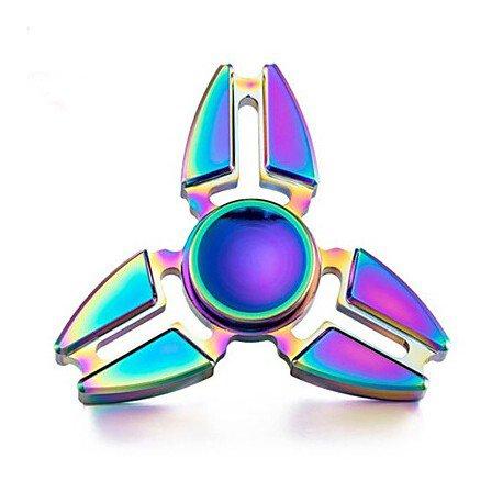 Tri-angle Hand Fidget Spinner Finger Gyro - Rainbow