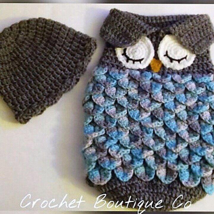Newborn Owl Cocoon and Cap