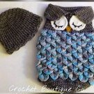 Newborn Owl Cocoon and Cap