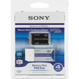 Sony 4 GB Memory Stick PRO DUO Retail Packaging