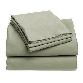 400-Thread-Count 100% Cotton Sateen King Sheet Set, Celadon