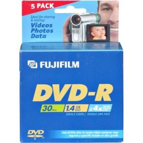 Fuji DVD-R 8CM 1.4 GB, 5 pack Jewel Cased