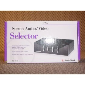 Radio Shack 4-WAY STEREO AUDIO/VIDEO SELECTOR