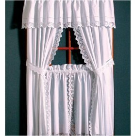 Window Panel Pair - White Lace