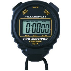 ACCUSPLIT Pro Survivor - A601X Stopwatch, Cum Split, Clock, Extra Large Display (Black)