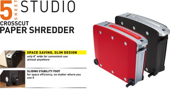Black & Decker 5 Sheet Studio Shredder - Red
