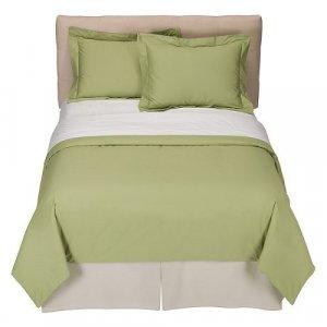 Full/Queen 220-Thread-Count Duvet Set - Green