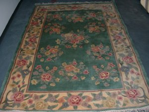 Aubusson 100% Wool Area Rug For Sale - (New, 5'x 8' Floral)