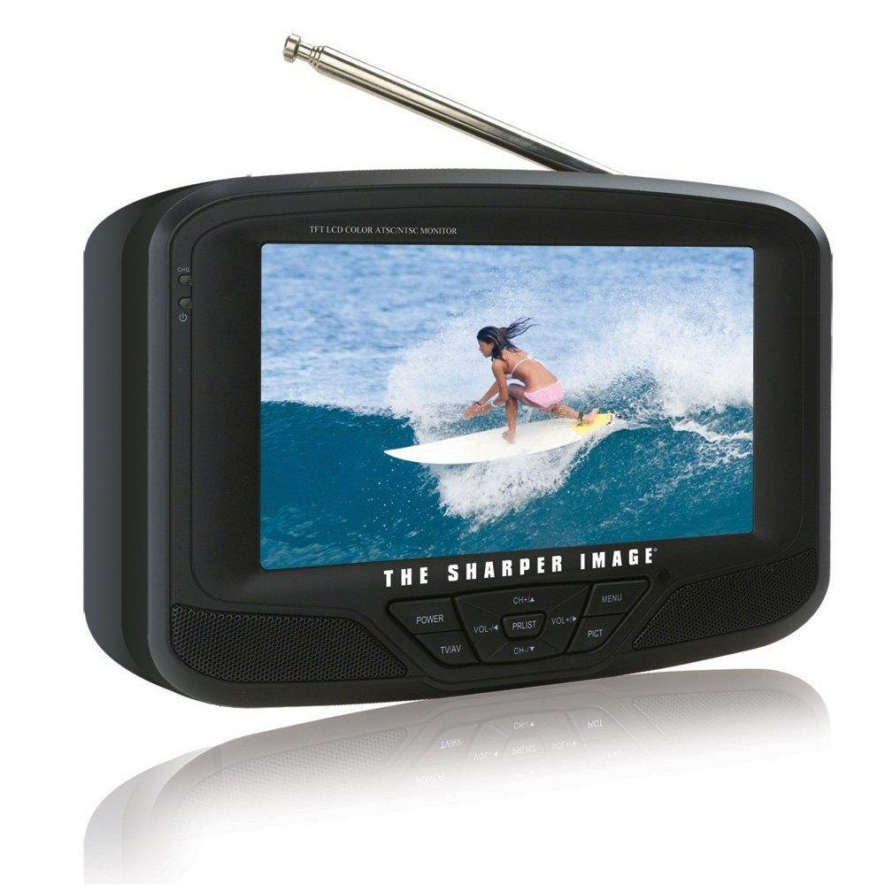 "Sharper Image 7"" inch Widescreen Portable Handheld LCD TV with Media Slots"