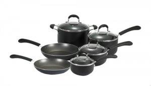 T-Fal Professional Nonstick 10-Piece Cookware Set - Black