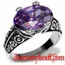 Vivid Amethyst Cocktail Ring