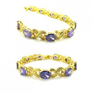 Amethyst 18K Yellow Gold Endearment Bracelet