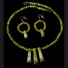Yellow Jade Necklace set