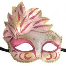 Venetian Mask Cascade Pink Mardi Gras Masquerade Costume Prom Party