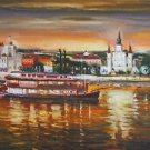 Riverboat Natchez New Orleans Baltas Matted Art Print French Quarter