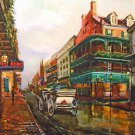 Horse and Buggy French Quarter New Orleans Baltas Matted Art Print