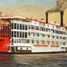 Mississippi Queen Riverboat New Orleans Baltas Matted Art Print Louisiana