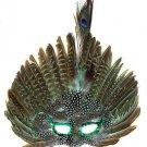 Venetian Feather Mask Light Green Masquerade Decor Mardi Gras Halloween Prom