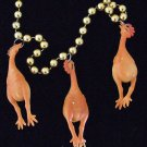 RUBBER CHICKEN Mardi Gras Beads Chickens Funny Joke