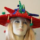 Red Sombrero Crazy Party Hat Mardi Gras Carnival Funny