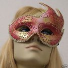 Venetian Mask Flame Scroll Your Choice Colors Mardi Gras Masquerade Halloween