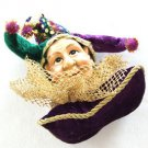 Jester Royal Pillow Mardi Gras Hanging Ornament