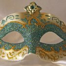 Venetian Eye Mask Green Jewel Mardi Gras Masquerade Costume Party