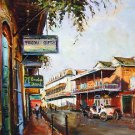 Buggy French Quarter Tricou New Orleans Baltas Matted Art Print
