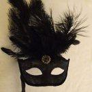 Venetian Mask Goth Black Mardi Gras Masquerade Prom