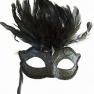 GOTH WAND MASK Solid Mardi Gras Carnival Costume Italy