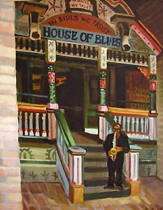 House of Blues New Orleans Art Print Matted Print Baltas French Quarter