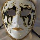 Full Face Mask Montego Black Costume Prom Mardi Gras New Orleans Masquerade