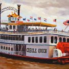 Creole Queen Riverboat New Orleans Baltas Matted Art Print Louisiana