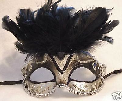 Venetian Masquerade Ball Party Mask Antique BLACK Prom