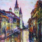 St. Louis Cathedral Side Street New Orleans Baltas Matted Art Print Quarter