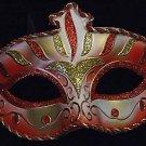 Wellington Crimson Red GOLD Venetian Mardi Gras Mask