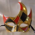 Venetian Mask Harlequin Flame Mardi Gras Men Masquerade Costume Prom Party