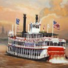 Natchez River Boat New Orleans Baltas Matted Art Print French Quarter