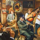 Preservation Hall Jazz Band New Orleans Baltas Matted Art Print French Quarter