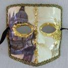 Mask Mardi Gras Carnival El Medico Ivory Gold Venice