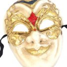 Venetian Full Mask Red Diamond & Gold Masquerade Costume Party New Orleans Prom