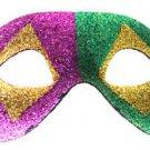 Venetian Eye Mask Glitter Purple Green Gold Costume Prom Party Mardi Gras